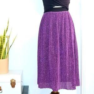 Vintage 80s Sparkly Purple Glitter Skirt